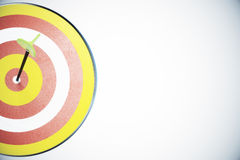 Dart board and a direct hit on target Stock Photography