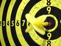 Dart-board ed obiettivo Fotografie Stock Libere da Diritti