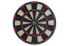 Dart board front view. On white background Stock Photography