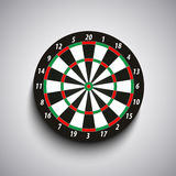 Dart board with green and red fields template Royalty Free Stock Images