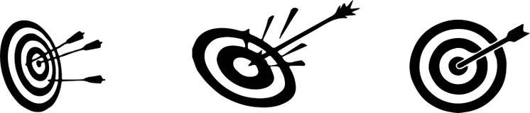 Dart board icon on white background stock illustration