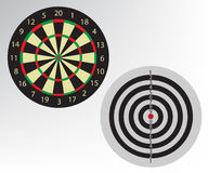 Dart board illustration Royalty Free Stock Images
