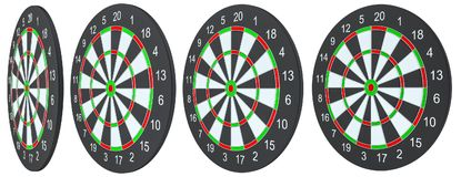 Dart board, isolated. On white background . 3d illustration royalty free illustration
