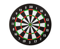 Dart Board Isolated on White Stock Photos