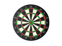 Dart Board. Isolated on white background Royalty Free Stock Image