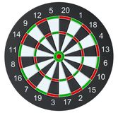 Dart board, isolated. On white background . 3d illustration vector illustration