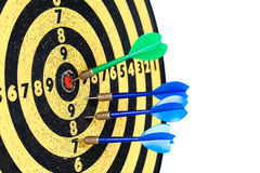 Dart board with javelin. Duel championship. Lucky Stock Photo