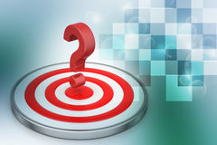 Dart board with a question mark Royalty Free Stock Photo