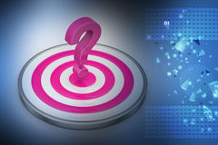 Dart board with a question mark Stock Photography