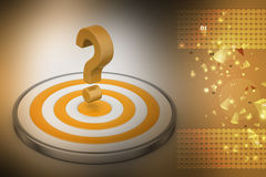 Dart board with a question mark Stock Images
