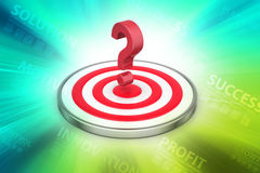 Dart board with a question mark Stock Photos