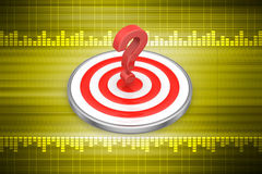 Dart board with a question mark Stock Image