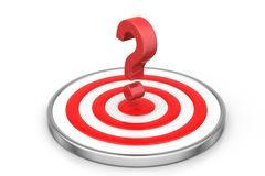 Dart board with a question mark Royalty Free Stock Images