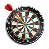 Dart Board Realistic. Dart board with arrow realistic isolated on white background vector illustration vector illustration