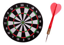 Dart board with red arrow Royalty Free Stock Photos