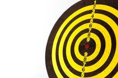 Dart board target. A yellow dart board target Royalty Free Stock Images