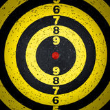 Dart board target. A yellow dart board target Royalty Free Stock Photos