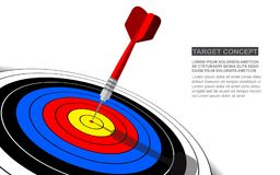 Dart board vector isolated template for business goal. Shooting target success solutions concept royalty free illustration