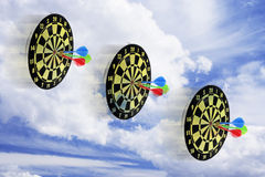 Dart Boards and Cloud Royalty Free Stock Image