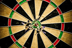 Dart bulls eye Stock Image