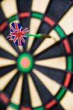 Dart on a bullseye. One dart on a bullseye Stock Photos