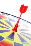 Dart on bullseye Stock Photos