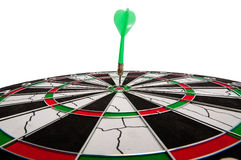 Dart in bullseye of dartboard Royalty Free Stock Photos