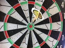 Dart bullseye. Dart showing target. concept for success stock photo