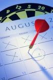 Dart and Calendar Royalty Free Stock Photos