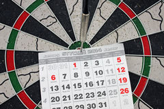 Dart and Calendar Stock Image