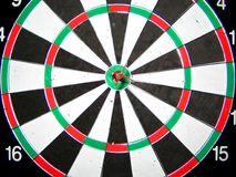 Dart in the center. Stock Photos