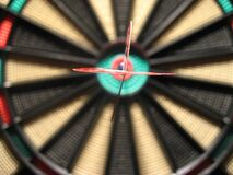 Dart in the center of the dartboard