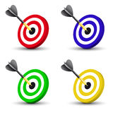 Dart in the center of a disc Royalty Free Stock Photography