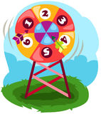 Dart on colorful target. Illustration of a dart on colorful target Royalty Free Stock Image