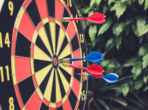 Dart is a competition and opportunity. Dartboard is be like as t Stock Photography