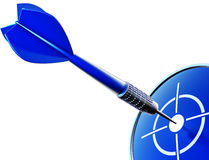 Dart. 3D illustration of an blue dart Stock Images