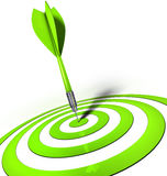 Dart. 3D illustration of an green dart Stock Image