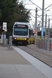 DART Dallas area rapid transit lightrail train Stock Photos