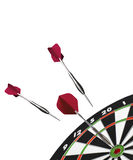 Dart and dart board. Isolated Dart and dart board royalty free illustration
