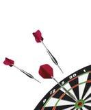 Dart and dart board Stock Photo
