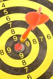 A dart on a dartboard Stock Photography
