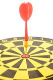 A dart on a dartboard Royalty Free Stock Image