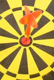 A dart on a dartboard Stock Images