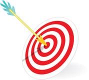 Dart and dartboard Stock Photography