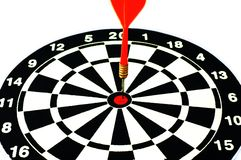 Dart and dartboard Stock Photography