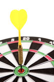 Dart in dartboard Royalty Free Stock Images