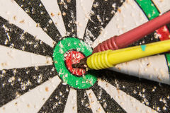 Dart on Dartboard Bullseye Royalty Free Stock Photography