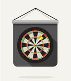 Dart with dartboard. Flat design Stock Image