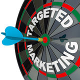 Dart and Dartboard Targeted Marketing Royalty Free Stock Photography