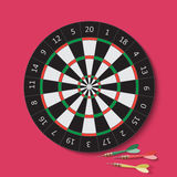 Dart and dartboard. Vector Illustration. Royalty Free Stock Image